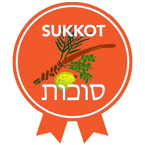 RTFH Badges Sukkot with ribbon